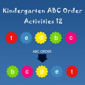 Kindergarten ABC Order Activities 12 Kindergarten ABC Order Activities 12