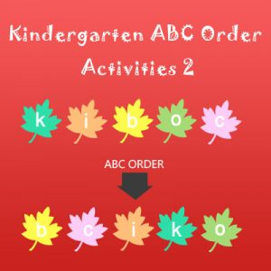 Kindergarten ABC Order Activities 2