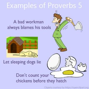 Examples of Proverbs 5 Examples of Proverbs 5