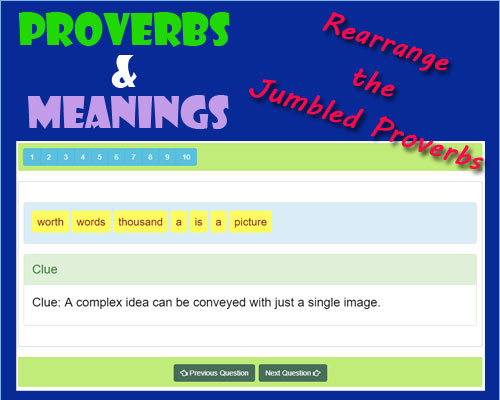 Famous English Proverbs Meanings 2 Famous English Proverbs Meanings 2