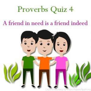 Key Stage Two Proverbs Quiz 4