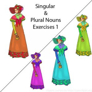 Subject and Predicate of a Sentence Singular and Plural Nouns Exercises 1