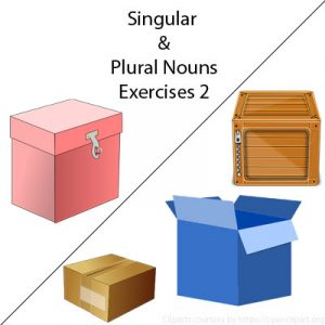 Subject and Predicate of a Sentence Singular and Plural Nouns Exercises 2