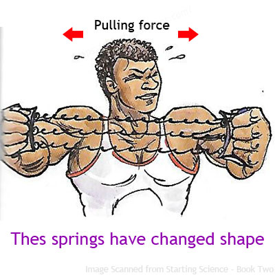 A strong force can change shape