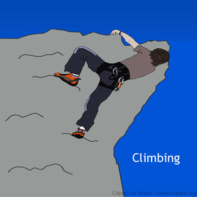 Examples of useful friction: Examples of more friction - We need more friction to climb easily