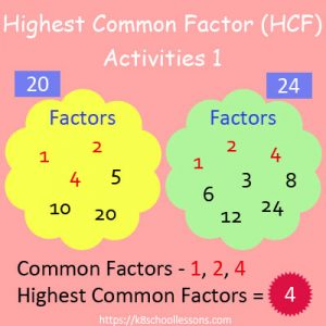 Highest Common Factor Worksheets 1 Highest Common Factor Worksheets 1