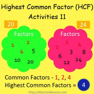 Highest Common Factor Worksheets 11 Highest Common Factor Worksheets 11