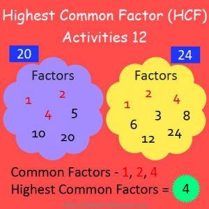 Highest Common Factor Worksheets 12 Highest Common Factor Worksheets 12