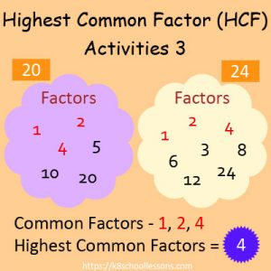 Highest Common Factor Worksheets 3 Highest Common Factor Worksheets 3