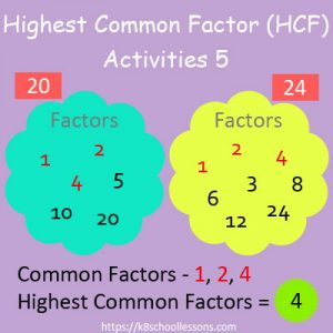 Highest Common Factor Worksheets 5 Highest Common Factor Worksheets 5