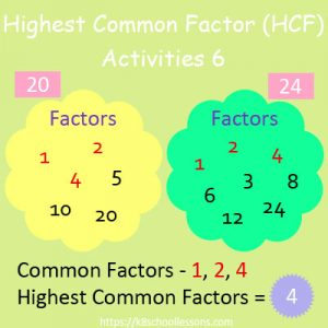 Highest Common Factor Worksheets 6 Highest Common Factor Worksheets 6