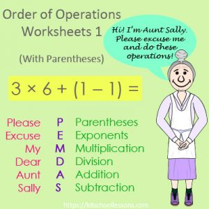 Order of Operations Worksheets 1