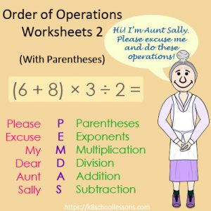 Order of Operations Worksheets 2 – With Parentheses Order of Operations Worksheets 2 – With Parentheses