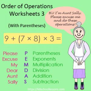 Order of Operations Worksheets 3 – With Parentheses Order of Operations Worksheets 3 – With Parentheses