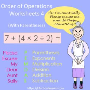 Order of Operations Worksheets 4 – With Parentheses Order of Operations Worksheets 4 – With Parentheses