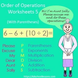 Order of Operations Worksheets 5 – With Parentheses Order of Operations Worksheets 5 – With Parentheses