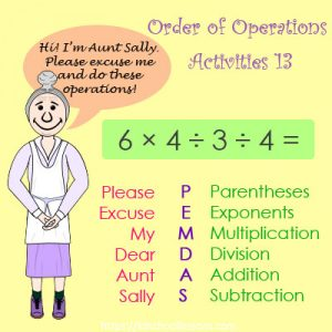 Order of Operations Activities 13