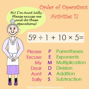 Order of Operations Activities 17 – No Parentheses Order of Operations Activities 17 – No Parentheses