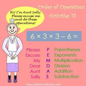 Order of Operations Activities 18 – No Parentheses Order of Operations Activities 18 – No Parentheses
