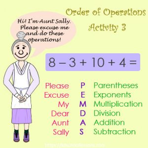 Order of Operations Activity 3