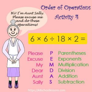 Order of Operations Activity 4