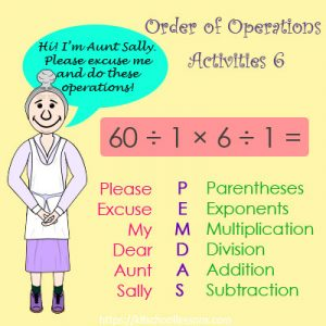Order of Operations Activities 6