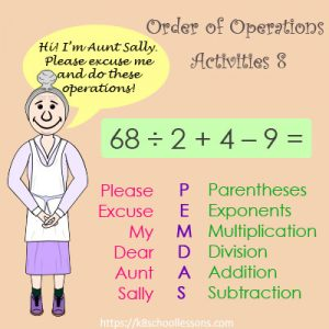 Order of Operations Activities 8