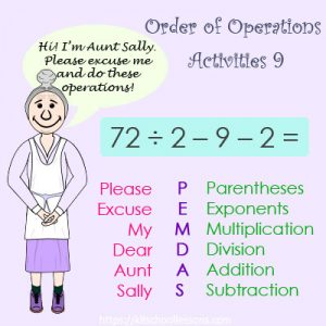 Order of Operations Activities 9