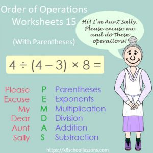 Order of Operations Worksheets 15 – With Parentheses Order of Operations Worksheets 15 – With Parentheses