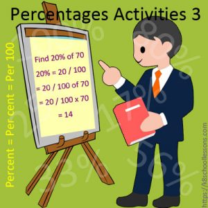 Percentages Activities 3 Percentages Activities 3