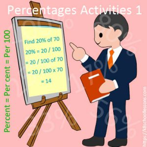 Percentages Activities 1 Percentages Activities 1