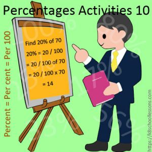 Percentages Activities 10 Percentages Activities 10