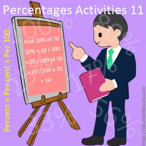 Percentages Activities 11 Percentages Activities 11