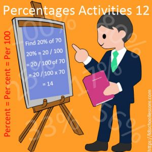 Percentages Activities 12 Percentages Activities 12