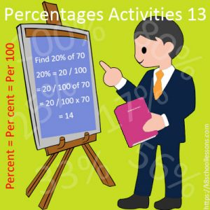 Percentages Activities 13 Percentages Activities 13