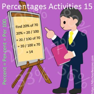 Percentages Activities 15 Percentages Activities 15