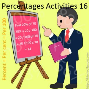 Percentages Activities 16 Percentages Activities 16