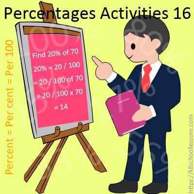 Percentages Activities 16