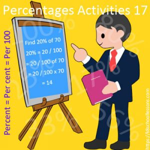 Percentages Activities 17 Percentages Activities 17