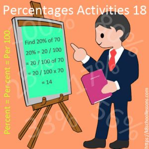 Percentages Activities 18 Percentages Activities 18