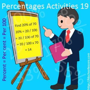 Percentages Activities 19 Percentages Activities 19