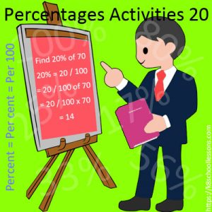 Key Stage Two Percentages Activities 20