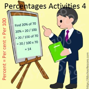 Percentages Activities 4 Percentages Activities 4