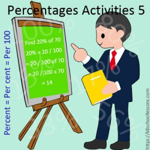 Percentages Activities 5 Percentages Activities 5