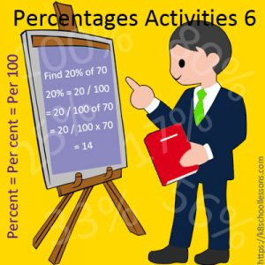 Percentages Activities 6 Percentages Activities 6