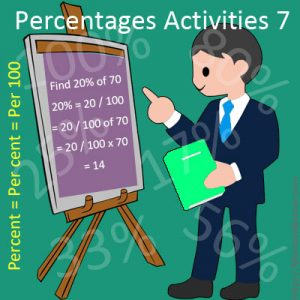 Percentages Activities 7 Percentages Activities 7