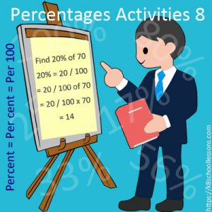Percentages Activities 8 Percentages Activities 8