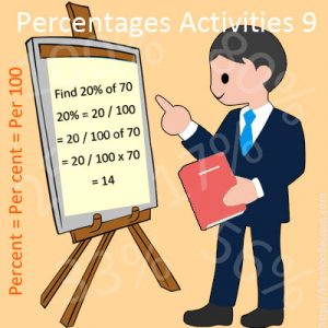 Percentages Activities 9 Percentages Activities 9
