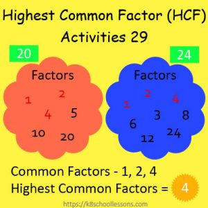 Highest Common Factor Worksheets 29 Highest Common Factor Worksheets 29