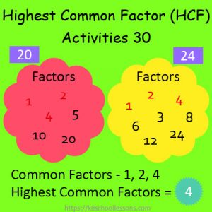Highest Common Factor Worksheets 30 Highest Common Factor Worksheets 30
